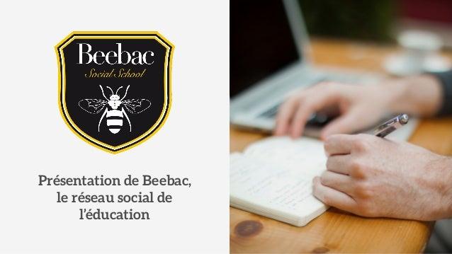 Présentation de Beebac,  le réseau social de  l'éducation