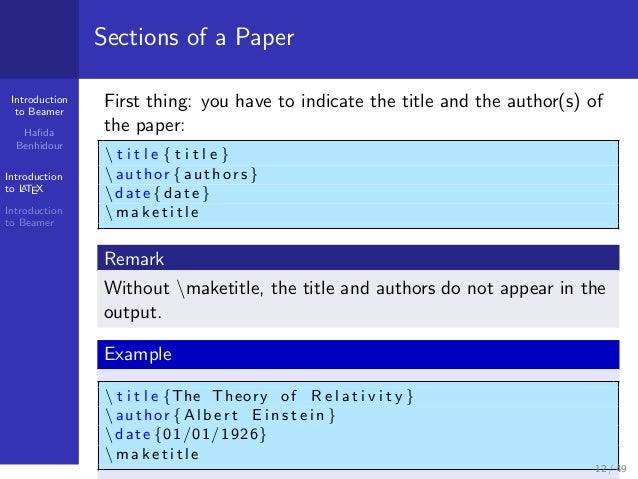 how to make a presentation with latex? introduction to beamerpresenta…, Powerpoint templates