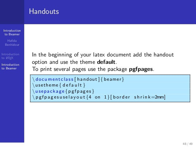 How to write a latex package