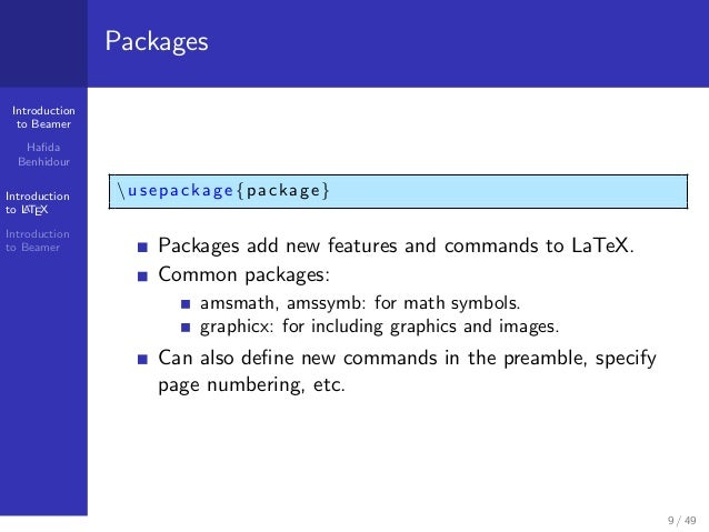 Packages In Latex