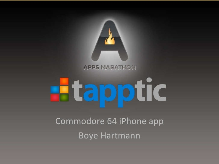 Commodore 64 iPhone app Boye Hartmann