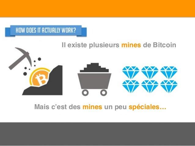 Il existe plusieurs mines de Bitcoin Mais c'est des mines un peu spéciales…