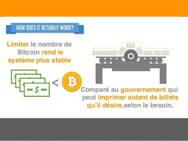 Limiter le nombre de Bitcoin rend le système plus stable Comparé au gouvernement qui peut imprimer autant de billets qu'il...