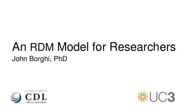 An RDM Guide for Researchers: Presentation at BIDS