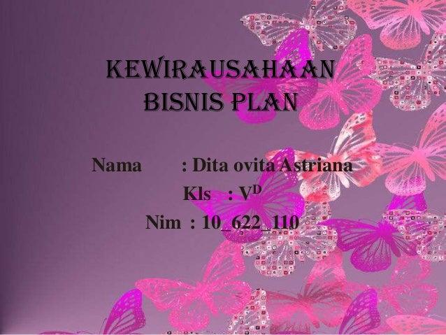 Presentation bisnis plan