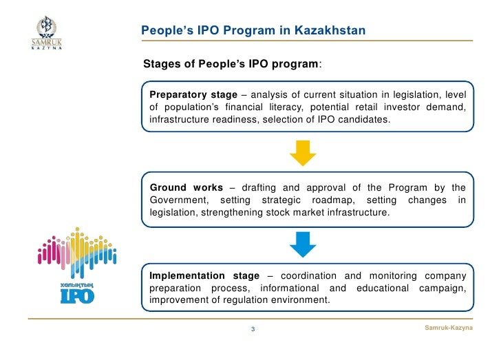 People's IPO Program in KazakhstanStages of People's IPO program: Preparatory stage – analysis of current situation in leg...