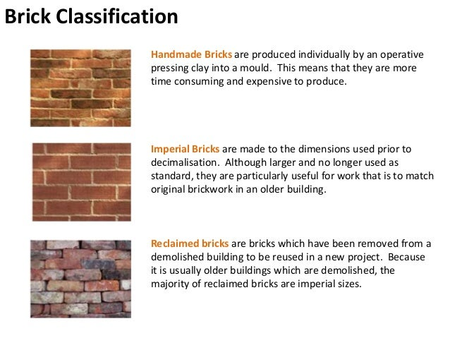 classification of bricks Clay bricks composition of clay manufacturing process manufacturing process stiff properties of bricks unit weight vabc 21 classification of bricks x.