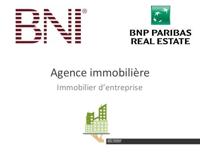 Agence  immobilière   Immobilier  d'entreprise
