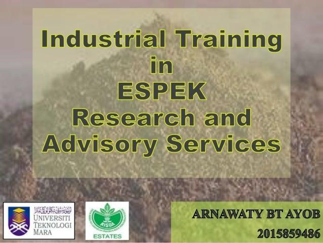 INTRODUCTION ESPEK Soil Analysis Leaf Analysis Fertilizer Analysis