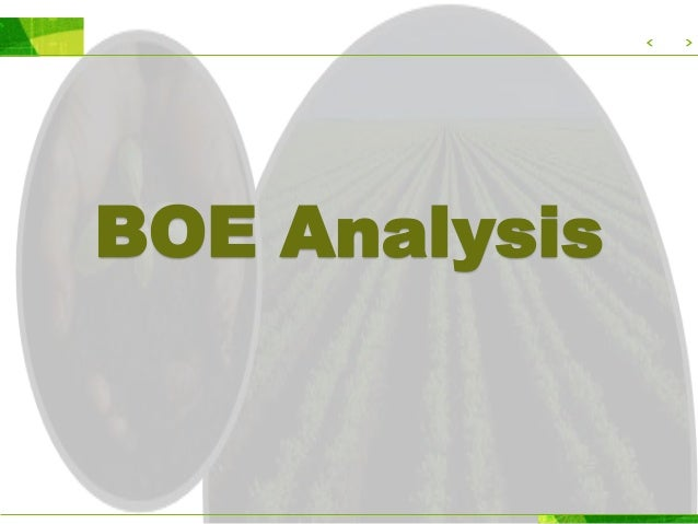 What is BOE? B - Baja O - Organik E - Espek Organic Fertilizer produced from the waste of the farm do not contain any chem...