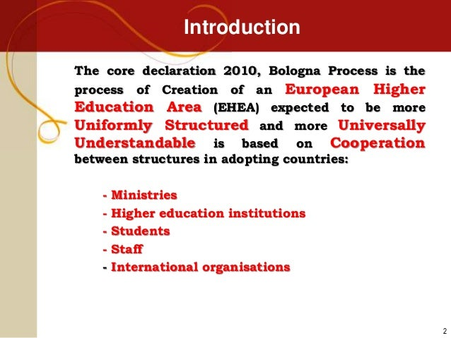 The Bologna process and LMD Implementation 98bba3bc52e0