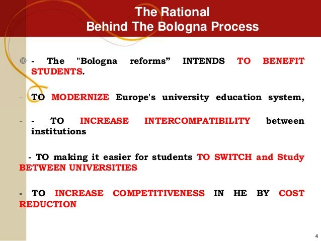... 4. The Rational Behind The Bologna Process ... fe57af46dee3