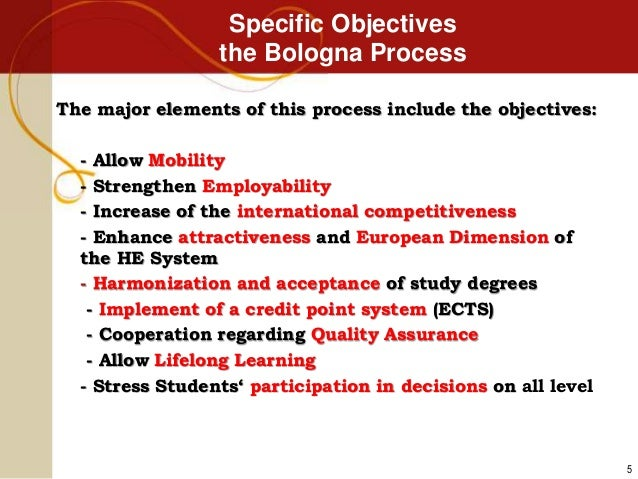 ... 5. Specific Objectives the Bologna Process ... b29a2400e653