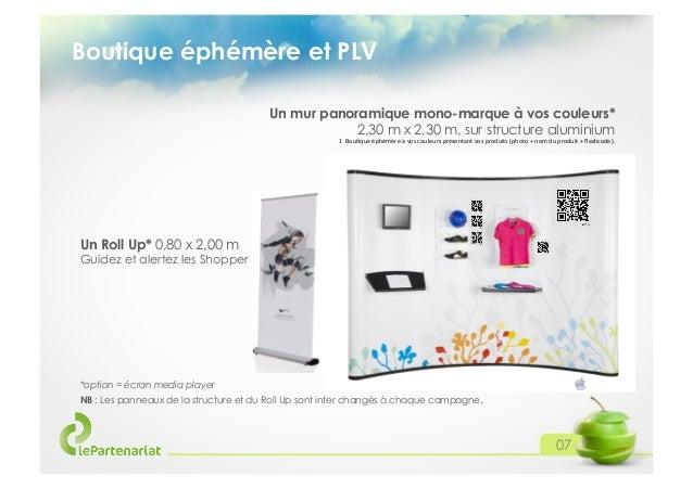 Boutique éphémère et PLV Un mur panoramique mono-marque à vos couleurs* 2,30 m x 2,30 m, sur structure aluminium 1Bou&qu...