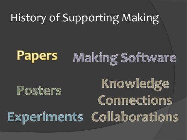 History of Supporting Making