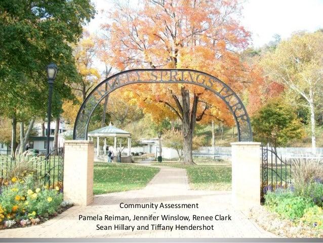 1 Pamela Reiman, Jennifer Winslow, Renee Clark Sean Hillary and Tiffany Hendershot Community Assessment
