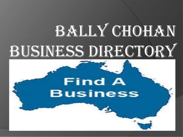 BALLY CHOHAN BUSINESS DIRECTORY