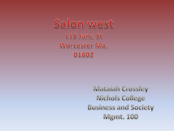 How we met!The owner of Salon West opened his businessout side my home about two years ago. Hisname is but he would rather...