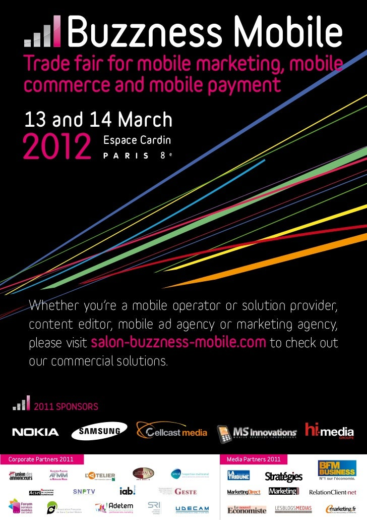 Trade fair for mobile marketing, mobile     commerce and mobile payment     13 and 14 March    2012                  Espac...