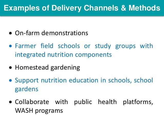Opportunities for scaling out nutrition integration in for Finding subcontracting opportunities