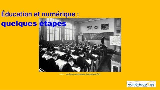 Éducation et numérique : quelques étapes Image : Archives communales d'Argenteuil (95)