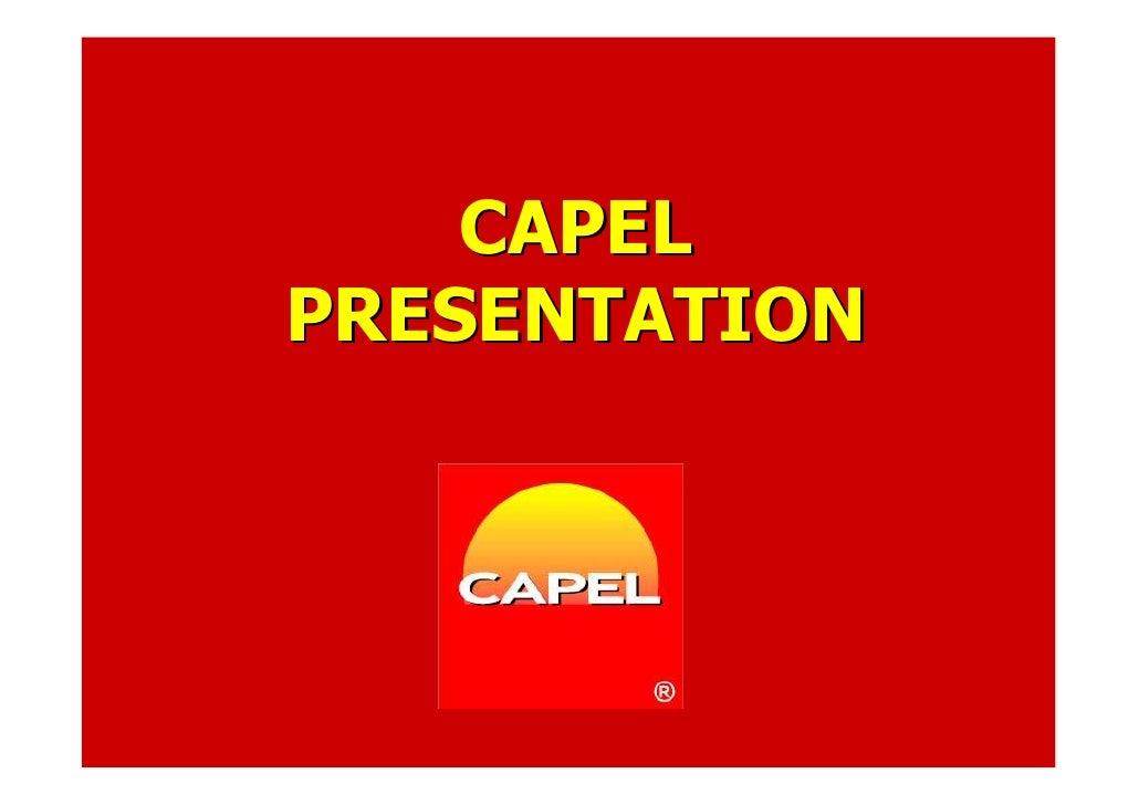 CAPEL PRESENTATION