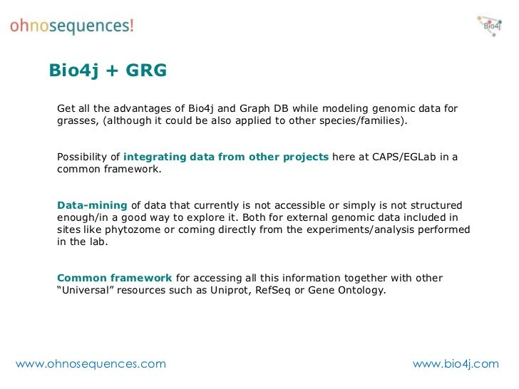 Graph Db Bioinformatics Bio4j Recent Applications And Future Dir