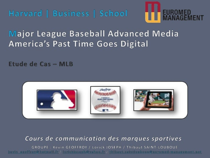 mlb advanced media case summar Vice president of baseball data at mlb advanced media, lp  summary  technology innovator with 15 years' proven success driving market-leading   facilitated creation of use cases for call flows / alternate flows, guiding users  through.