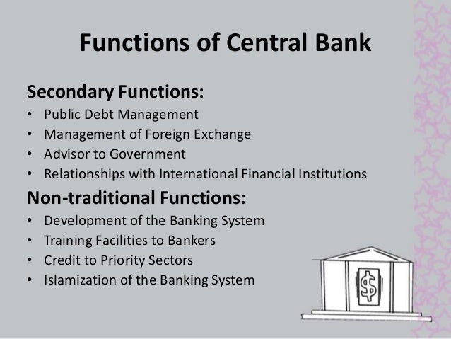 Functions of central bank of belize