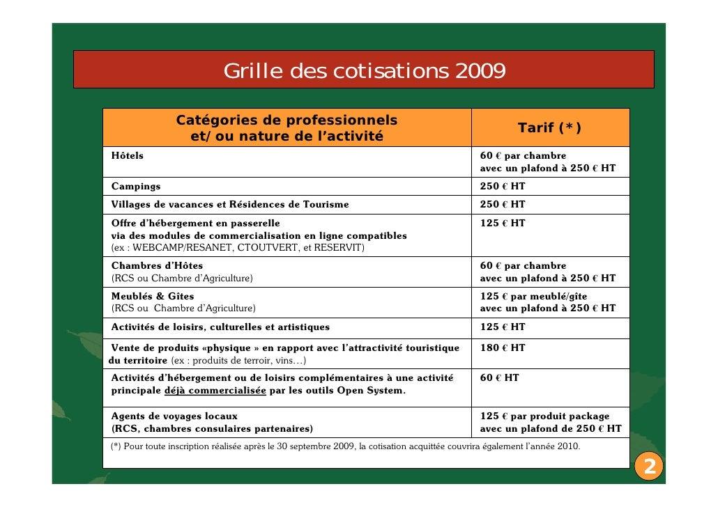 Vitrine commerciale cevennes tourisme - Grille salaire chambre agriculture ...
