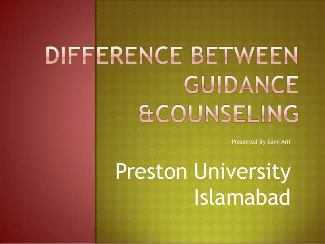 concepts of guidance and counselling Guidance the act or process of guiding counselling, such as that provided for students seeking advice about vocational and educational matter's something that provides direction or advice as to a.