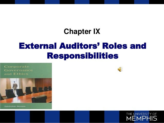 Chapter IXExternal Auditors' Roles and      Responsibilities