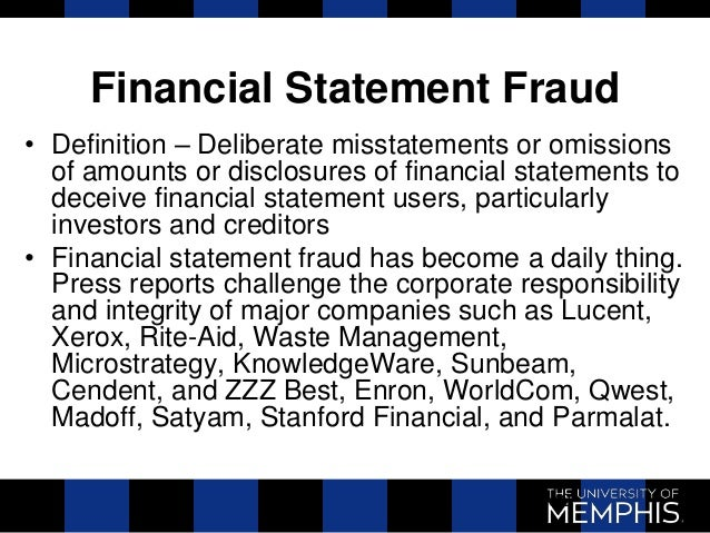 financial statement fraud Financial statement fraud: prevention and detection [zabihollah rezaee, richard riley] on amazoncom free shipping on qualifying offers practical examples, sample reports, best practices and recommendations to help you deter, detect, and prevent financial statement fraud financial statement fraud (fsf) continues to be a major.