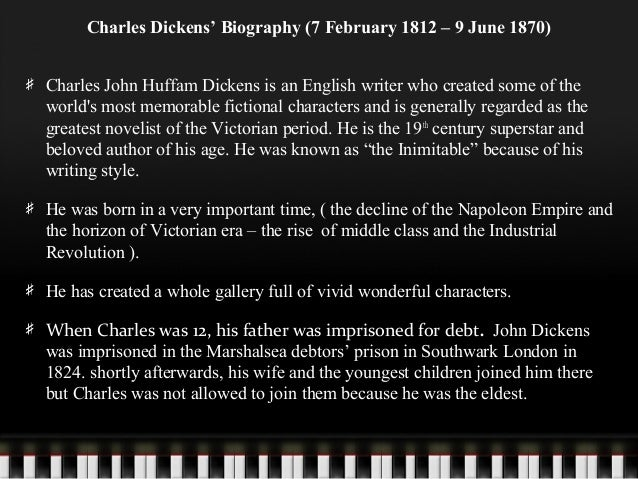 a biography of charles dickens an english writer Charles dickens: compassion and multi-volume charles dickens' biography into one slim volume this is a quick biography of the english writer and social critic.