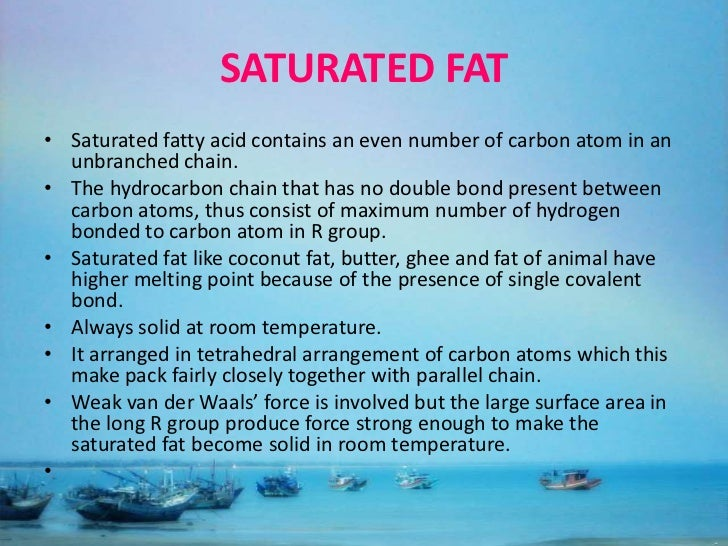 Saturated Fat State At Room Temperature