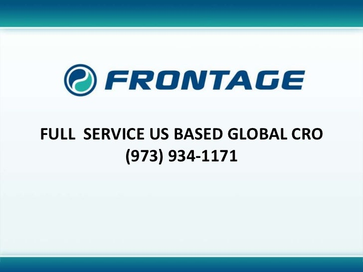Full  Service US Based global CRO (973) 934-1171<br />