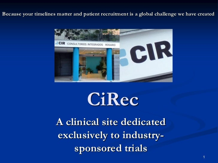 Because your timelines matter and patient recruitment is a global challenge we have created                               ...