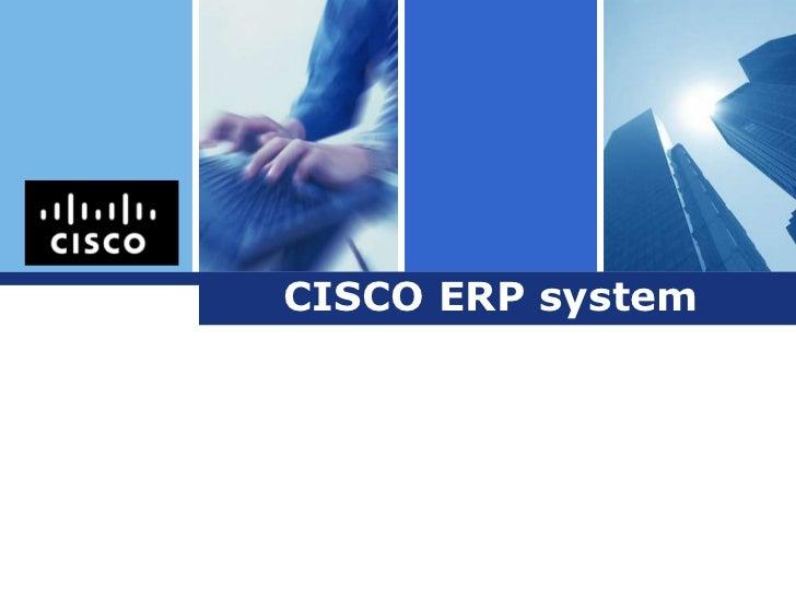 Logo       CISCO ERP system