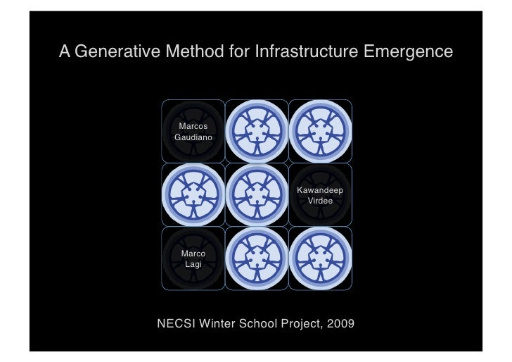 A Generative Method for Infrastructure Emergence!                   Marcos!               Gaudiano!                       ...