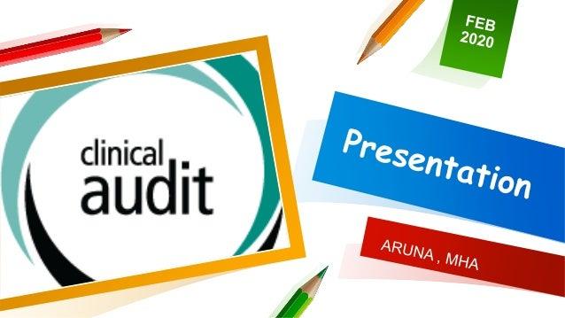 Presentation clinical audit Slide 1