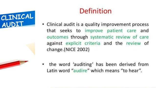 Presentation clinical audit Slide 2