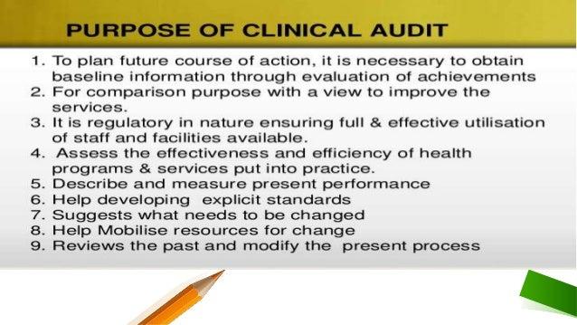 Presentation clinical audit Slide 3