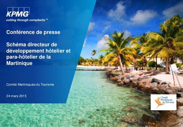 Conférence de presse Schéma directeur de développement hôtelier et para-hôtelier de la Martinique Comité Martiniquais du T...