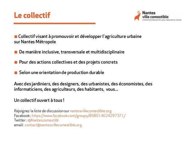 Forum Nantes ville comestible 24/01/15 : introduction, présentation du collectif et des intervenants Slide 2