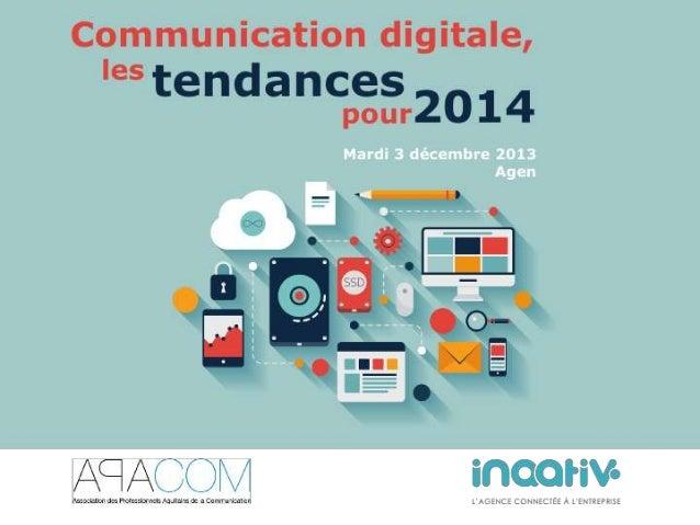 Inaativ, une agence de  communication avec des spécificités  Marketing de contenu, inbound marketing, multi-canal, …  Expe...