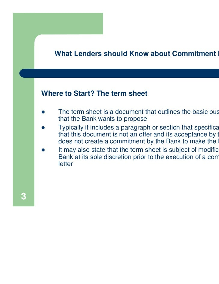 3 what lenders should know about commitment letters