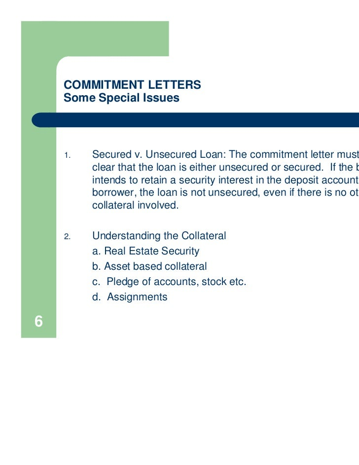 mortgage commitment letter presentation commitment letters 1504
