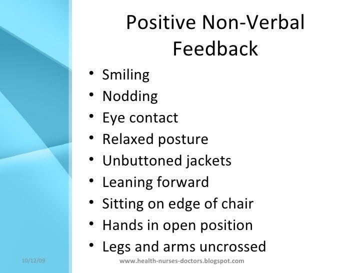 verbal and nonverbal communication skills in nursing
