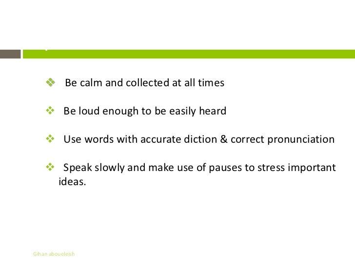 Presentation & communication skills