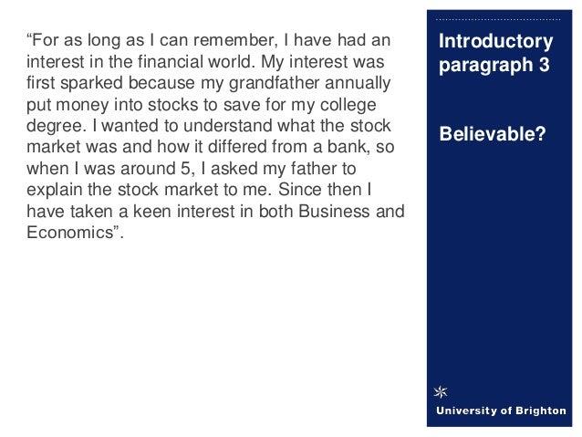 hobbies paragraph personal statement